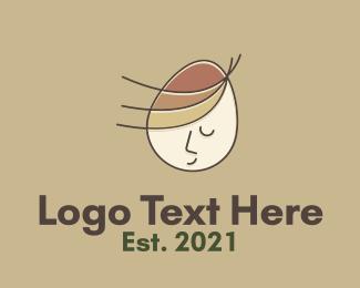 Egg Decoration - Child Egg Head logo design
