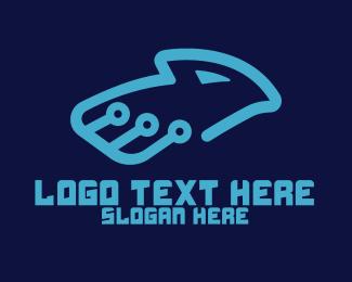 Webhost - Technological Eagle logo design