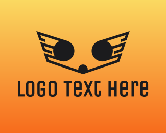 Wings - Outline Wings logo design