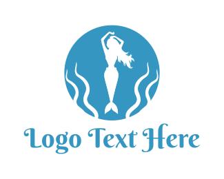 Siren - Mermaid Circle logo design