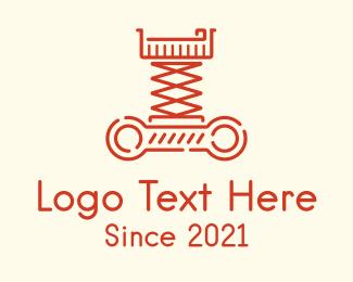 Machine - Crane Lift Machine logo design