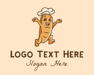 French Pastry - Bread Bun Baker  logo design
