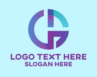 Mg - Geometric Holographic Letter G  logo design