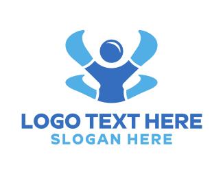 Human - Colorful Human logo design