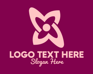 Tulip Flower - Simple Pink Flower logo design
