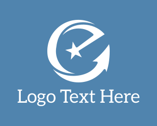 Marketing - White Letter E logo design