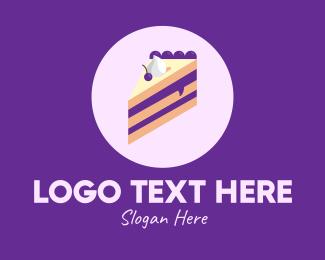 Delicious - Blueberry Cake logo design
