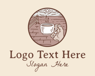 Relaxing - Relaxing Outdoor Cafe  logo design