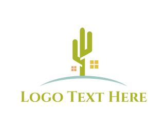Arizona - Desert Cactus House logo design