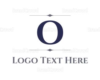 Dinnerware - Elegant Letter O logo design