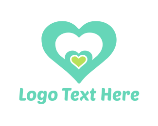Teal - Mint Heart logo design