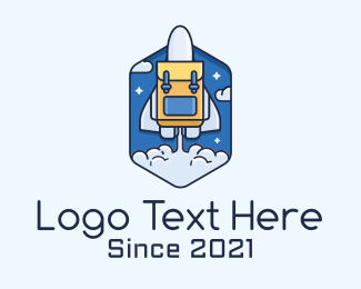 Takeoff - Rocket Launch Backpack logo design
