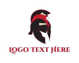 Soldier - Spartan Helmet logo design