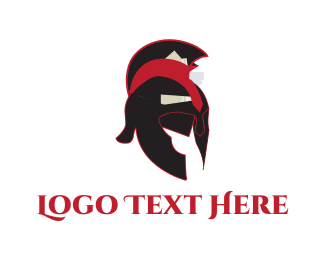 Rome - Spartan Helmet logo design