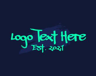 Graffiti - Graffiti Neon Wordmark logo design