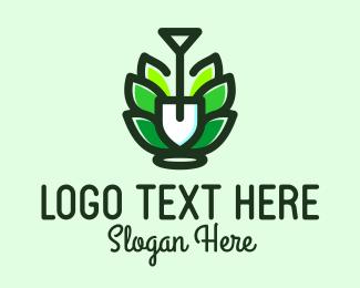 Ground - Organic Garden Shovel logo design