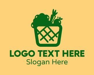 Mart - Green Vegetable Basket logo design