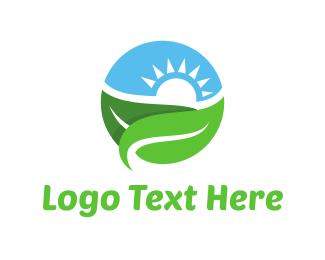 Salad - Landscape Circle logo design