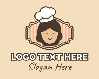 Pancakes - Smiling Chef Cook logo design