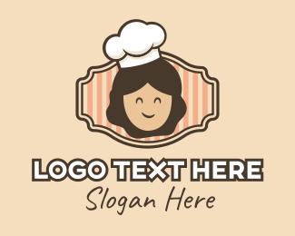 Caterer - Smiling Chef Cook logo design