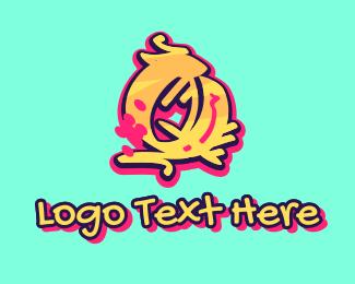 Graffiti - Graffiti Art Letter Q logo design