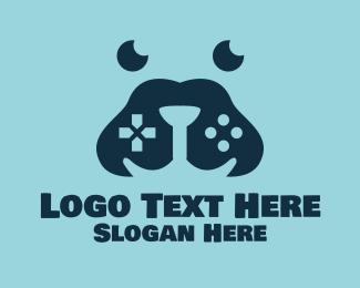 K9 - Blue Gamer Dog logo design