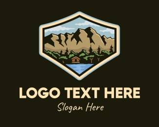 Campgrounds - Outdoor Cabin Lodge logo design