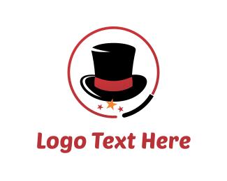 Magic - Ringmaster Hat logo design