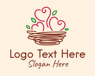 Hearts - Love Nest logo design