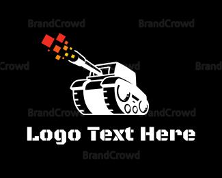 Fighting - White War Tank logo design