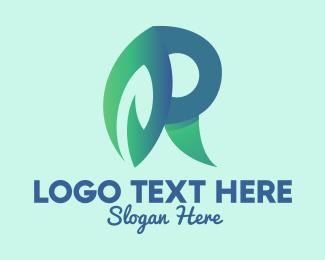 Grower - Leaf Letter R logo design