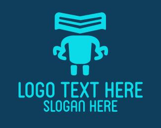 Droid - Robot Claws logo design