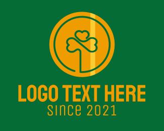 Coin - Clover Gold Coin logo design
