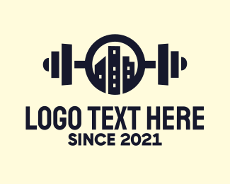 Powerlifting - Urban City Fitness Gym logo design