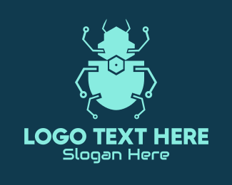 Malware - Electric Tech Beetle  logo design