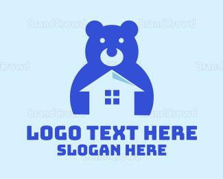 Teddy - Black Toy House logo design