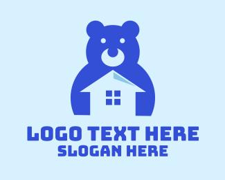 Teddy - Blue Toy House logo design