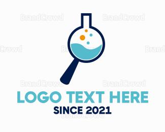 Beaker - Lab Search logo design