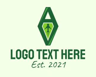 Root - Natural Leaf AV Monogram logo design