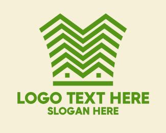 Construction - Green Building Construction  logo design