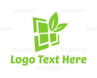 Renewable - Eco Window  logo design