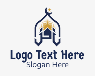 Landmark - Muslim Church Landmark logo design