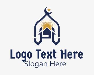 House - Muslim Church Landmark logo design