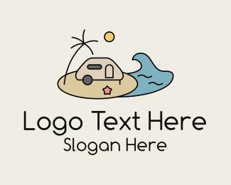 Seaside - Travel Trailer Seaside logo design
