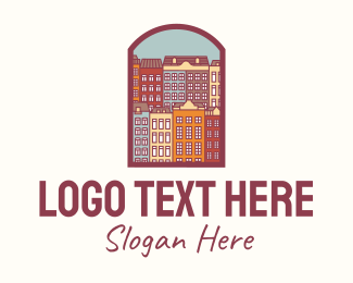 Tenement - Portugal House Villages logo design