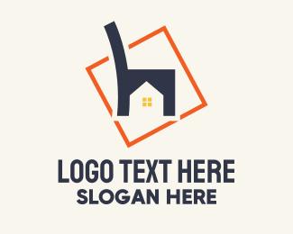 Flat - Furniture House Letter H logo design