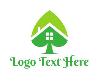 Interior Designer - Green Spade House logo design