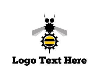 Cog - Industrial Bee logo design