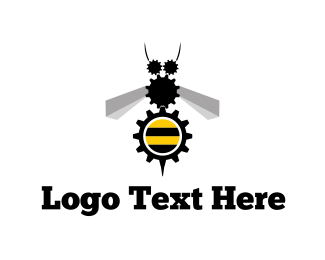 Cogwheel - Industrial Bee logo design