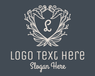 Gray - Gray Leaf Shield Lettermark logo design